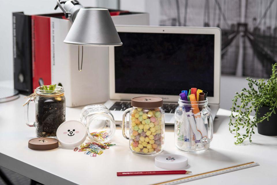 你猜得到梅森杯也能当小夜灯、盆栽吗?麦当劳×LINE FRIENDS推出超有质感「玻璃光雕梅森杯」